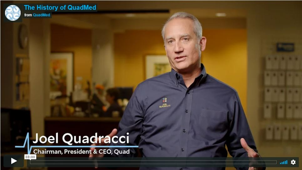 Joel Quadracci talking about the History of QuadMed