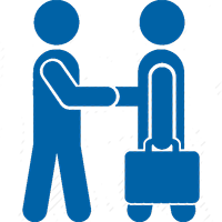 People shaking hands icon representing Job Seekers