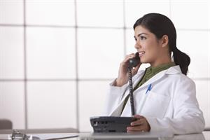 QuadMed doctor on-phone
